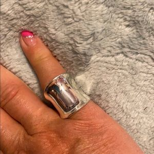 Sterling Silver Wide Dome Mirror Ring